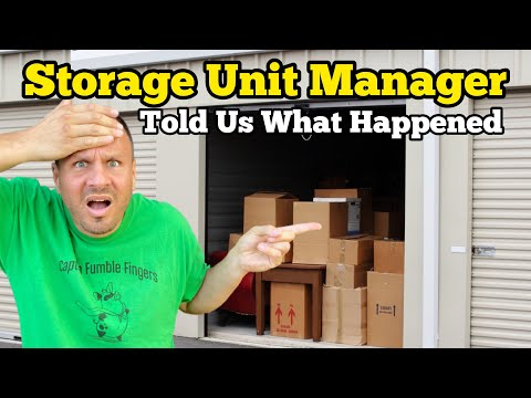 THE MANAGER TOLD US WHAT HAPPENED / I Bought An Abandoned Storage Unit / Storage Wars