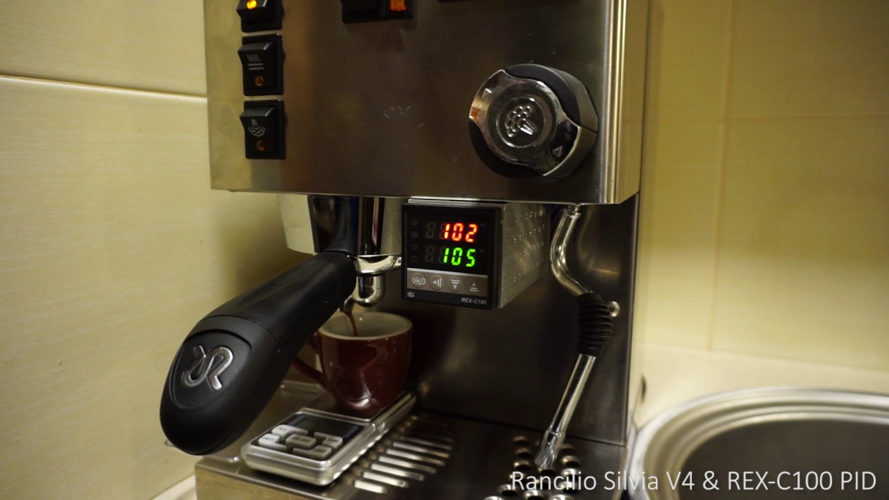 rancilio silvia v4 with rex c100 pid settings [ 1280 x 720 Pixel ]