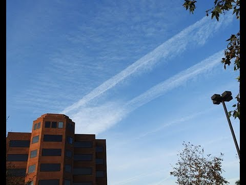 Chemtrail War Zone Over Long Beach Ca.  Jan. 21, 2018