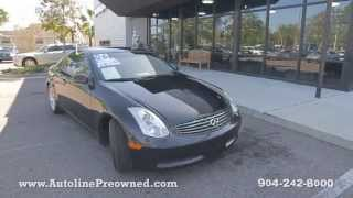Autoline Preowned 2006 Infiniti G35 Coupe For Sale Used Walk Around Review Test Drive Jacksonville
