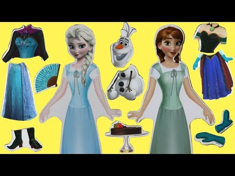 Opening Frozen 2 Wooden Magnetic Doll Dress Up Toys