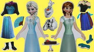 Disney Frozen 2 Wooden Magnetic Doll Dress Up with Queen Elsa & Princess Anna