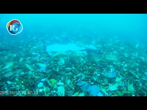 Underwater footage reveals field of trash in Karon Bay