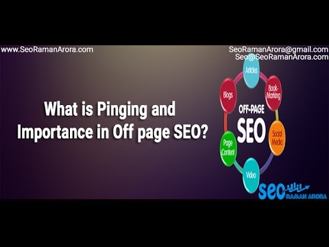 What is Pinging and Importance in Off Page SEO | Off-Page SEO Techniques