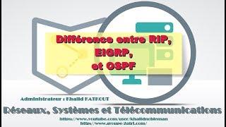 Différence entre RIP, EIGRP et OSPF (KHALID KATKOUT)