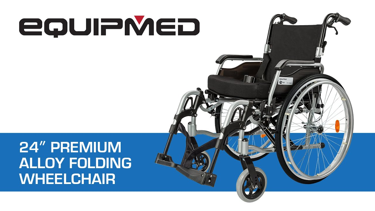equipmed 24 premium alloy folding wheelchair youtube