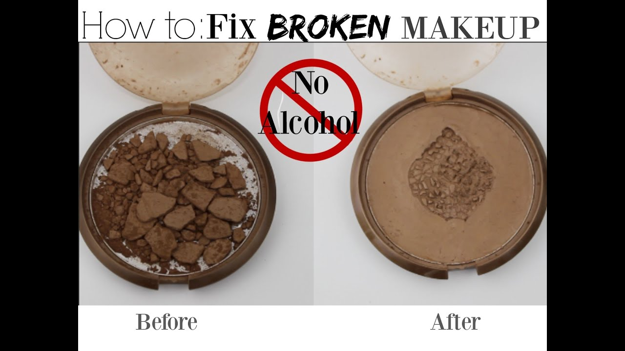 How to fix broken powder makeup with alcohol in four simple steps - How To Fix Broken Powder Makeup With Alcohol In Four Simple Steps 4