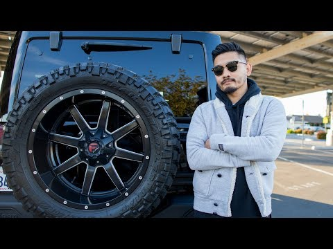 How 22-inch rims look like on a Jeep Rubicon