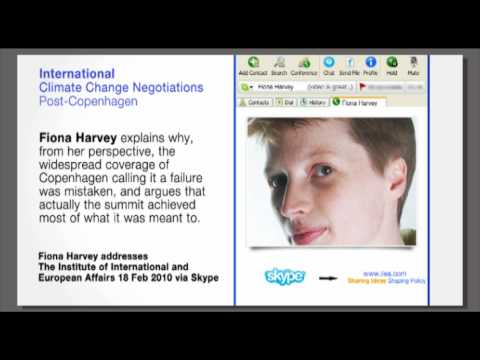 Fiona Harvey on International Climate Change Negotiations Post-Copenhagen