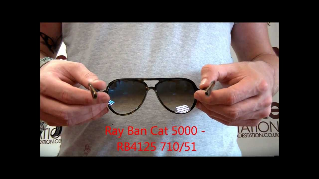 200253b4c41 Ray Ban Cat 5000 Sunglasses Review - RB4125 710 51 - YouTube