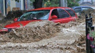 Жуткие последствия потопа в Крыму. Гостиницы затоплены, тысячи человек без света
