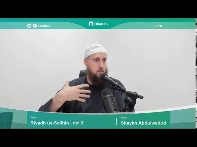 Riyadh us Salihin | del 3