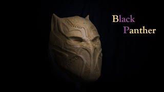 Черная Пантера из пластилина для создания маски / Black Panther plasticine timelapse