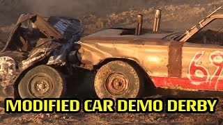 The modified class is an Open rule class of Destruction Derby cars.