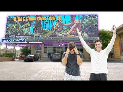 I Put Him On An EMBARRASSING Billboard!