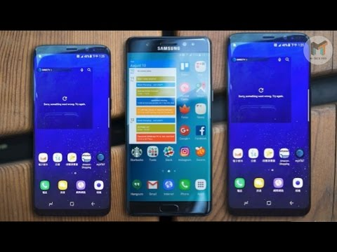 samsung galaxy s8 s8 plus vs note 7 s7 size comparison youtube. Black Bedroom Furniture Sets. Home Design Ideas