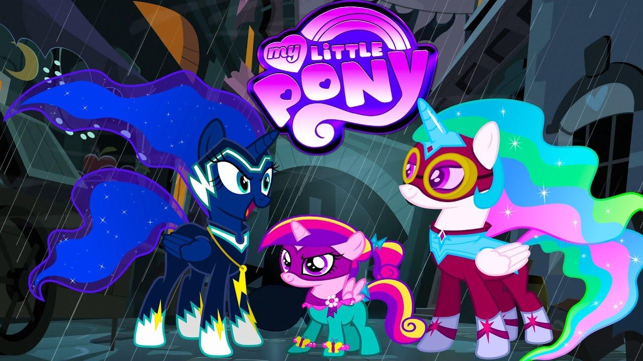 My Little Pony Transform Into Power Ponies Princess Luna Celestia