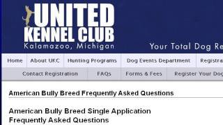 how to register a dog with the american bully kennel club abkc