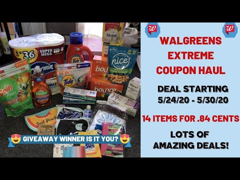 WALGREENS EXTREME COUPON HAUL DEALS STARTING 5/24/20~14 ITEMS ONLY .84 CENTS🔥PLUS GIVEAWAY WINNER!