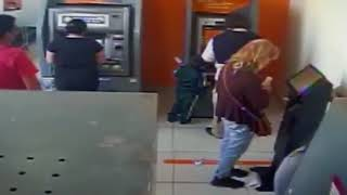 Four-Year-Old Chilean Pickpocket Seen at Work in Bank Branch