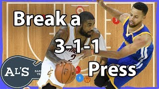 How To Break a 3-1-1 Press Basketball Defense