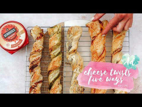 (AD) CHEESE TWISTS - FIVE WAYS WITH SERIOUSLY SPREADABLE - EASY SNACK RECIPE FOR KIDS