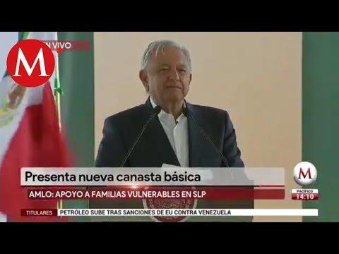 AMLO presenta nueva Canasta Básica