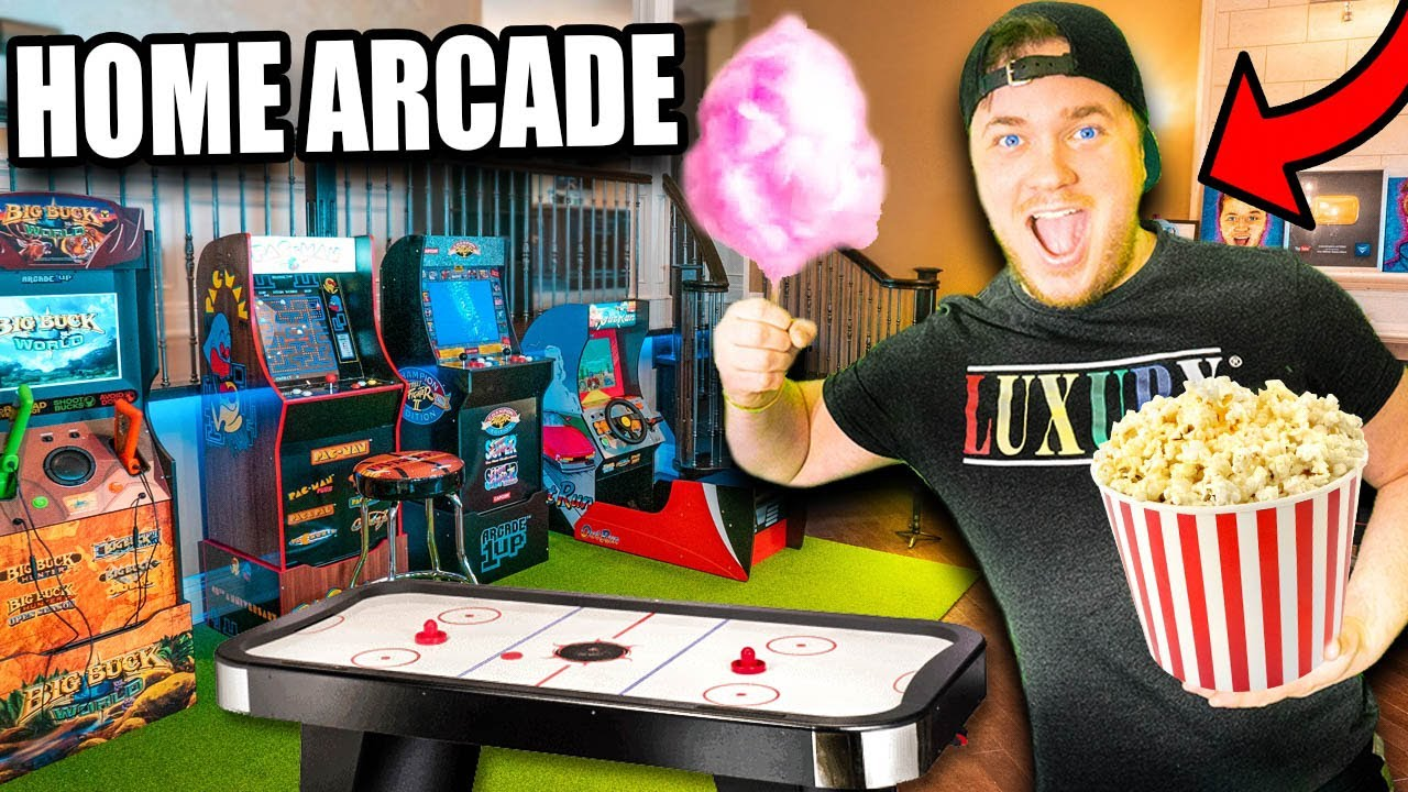 Turning Our House Into a Giant Home ARCADE Fort!