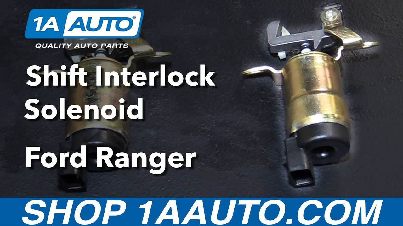 How to Replace Shift Interlock Solenoid 9509 Ford Ranger  YouTube