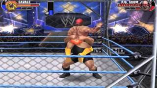 WWE All Stars Wii Gameplay Cage Match