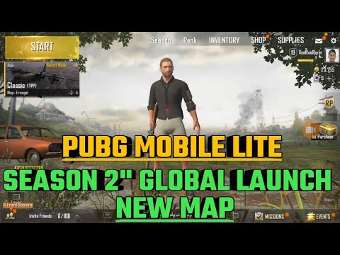 Pubg lite season 2 | Global Launch Date | New map