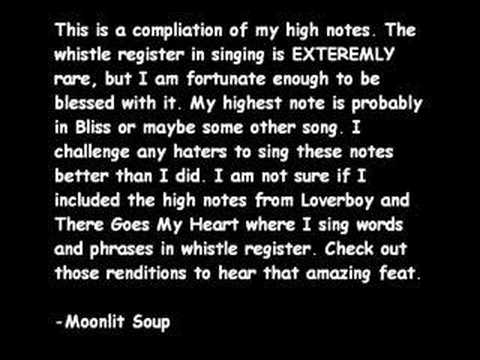 Fabulous High Notes (from the whistle register)