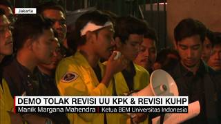 Demo Mahasiswa Tolak Revisi UU KPK dan Revisi KUHP
