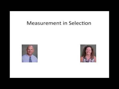 Organizational Staffing:  Measurement Issues in Applicant Testing