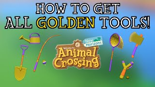 Let's talk about how to get every golden tool in animal crossing new horizons! be ready grind!! - subscribe lordrespawn for more amaz...