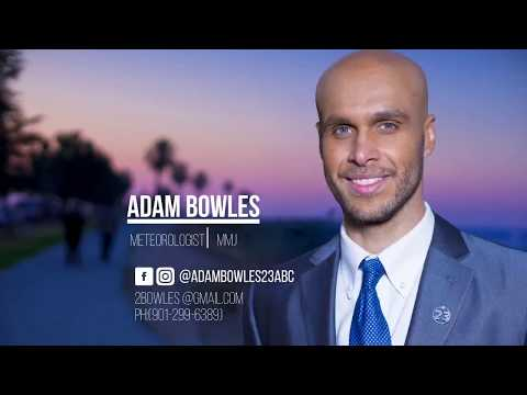 Meteorologist Adam Bowles MMJ/Weather Reel August 2017