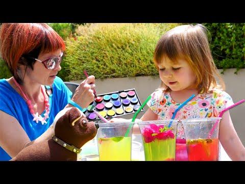 Бьянка и Маша Капуки делают лимонад. Игры с РОДИТЕЛЯМИ в видео шоу онлайн.