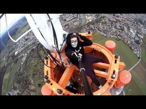 Climbing a 273m TV Tower in Mühlacker, Germany | Lele Matthew