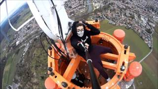 Climbing a 273m TV Tower in Mühlacker, Germany | Lele Matthew