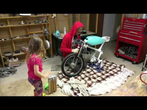 Honda express Nc50 Frankenstein mini café build timelapse