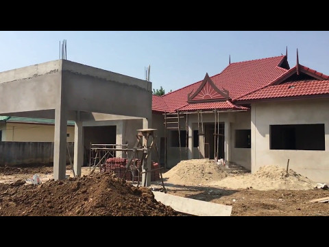 Baan Kwan  - Building a house in Kanchanaburi Thailand -   Part 2