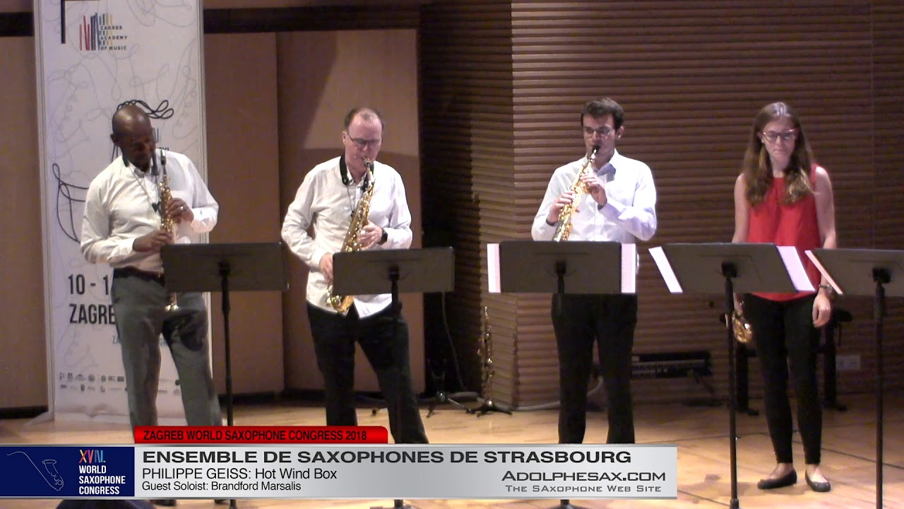 Hot Wind Box by Philippe Geiss   Ensemble de Saxophones de Strasbourg   XVIII World Sax Congress 201