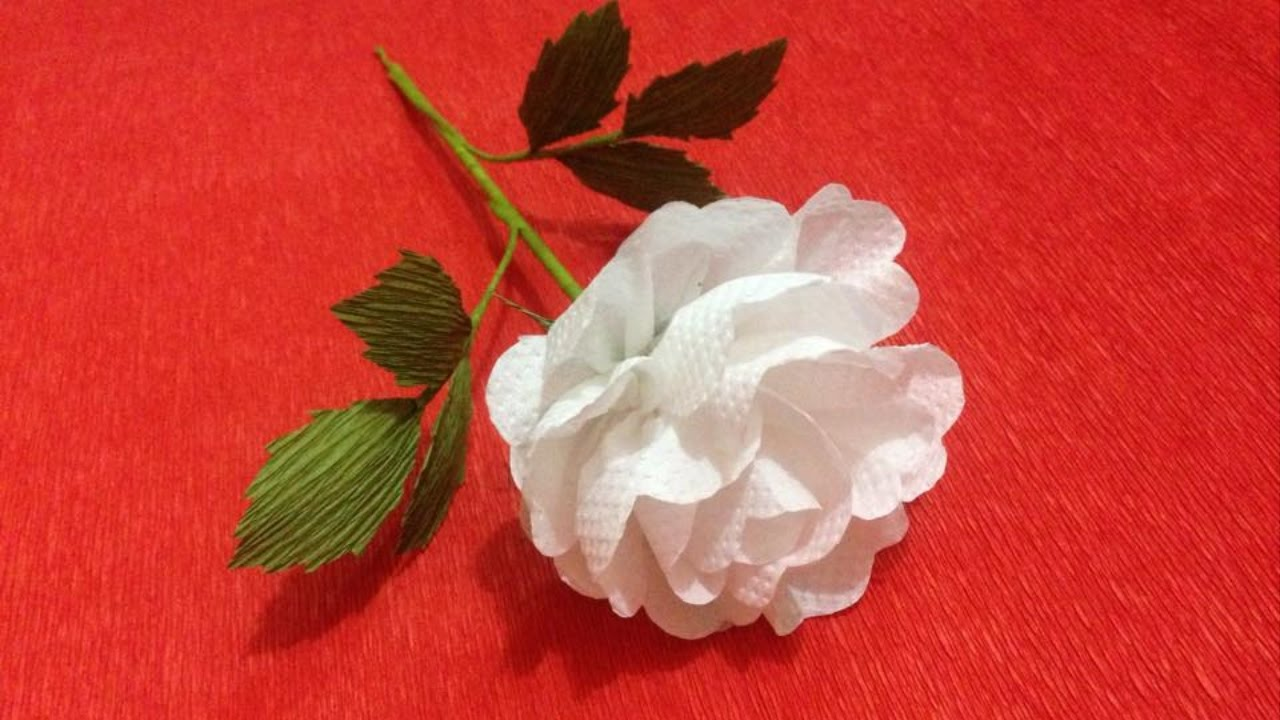 How To Make Rose Tissue Paper Flowers Flower Making Of Tissue