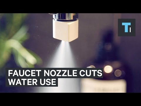 Sink faucet nozzle cuts water use by 98%