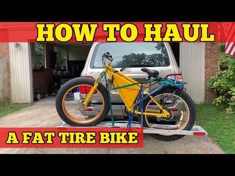 Hauling my fat tire e-bike with a Harbor Freight Motorcycle Carrier