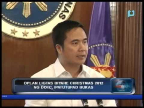 PTV News Break: 'Oplan Ligtas Biyahe Christmas 2012' ng DOTC, ipatutupad bukas