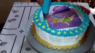Simple Decoration on Photo Cake