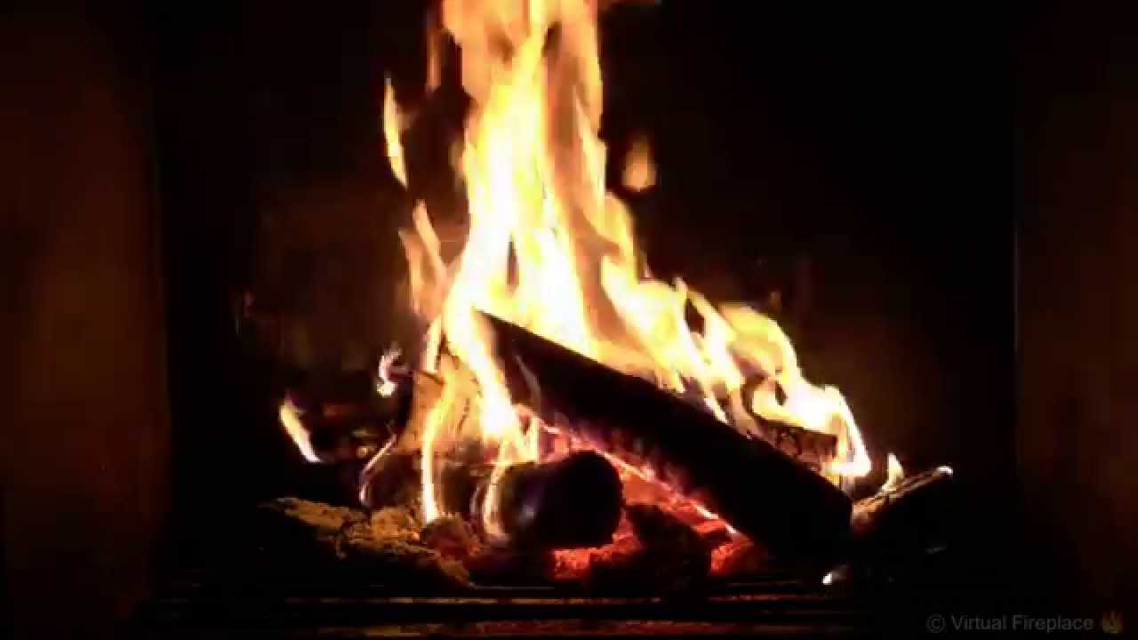 Virtual Fireplace Soft Crackling Fireplace with Piano Background Music HD  YouTube