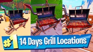 Destroy Grills with the Low n' Slow Harvesting Tool - Fortnite 14 Days Of Summer Challenge