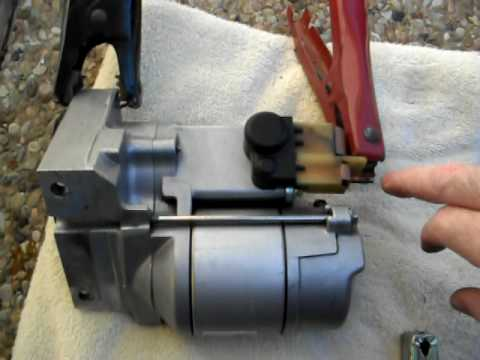 How to bench test a starter motor - YouTube
